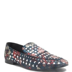 Shoes - Accented Studded Loafers